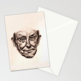 Old Man Portrait Stationery Cards