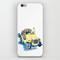 jeep iPhone & iPod Skins featuring Animal Jeep by Claire Sianna