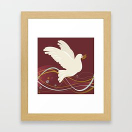 Christmas Dove Framed Art Print