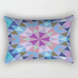 Retro Geometry Mandala Lavender Blue Rectangular Pillow