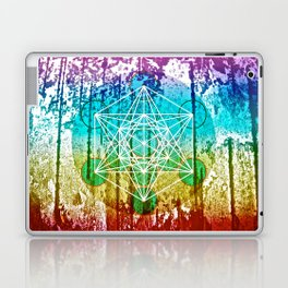 The Flower of Life & Metatron's Cube - The Rainbow Tribe Collection Laptop & iPad Skin