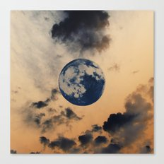 Moon Clouds Canvas Print