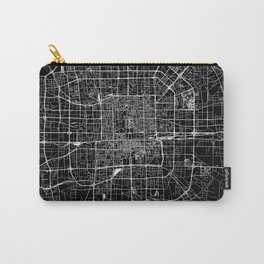 Beijing Black Map Carry-All Pouch