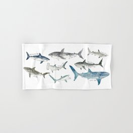 Sharks Hand & Bath Towel