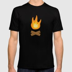 Fire Mens Fitted Tee Black MEDIUM