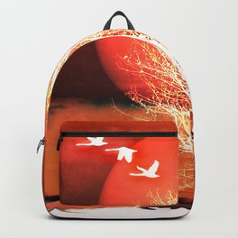 Sun in red Backpack