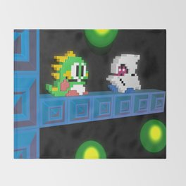Inside Bubble Bobble Throw Blanket