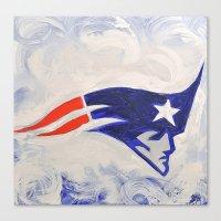 patriots Canvas Prints featuring The patriots  by Joel Gonzalez