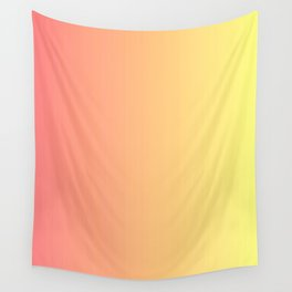 Color gradient 14. red and yellow. abstraction,abstract,minimalism,plain,ombré Wall Tapestry