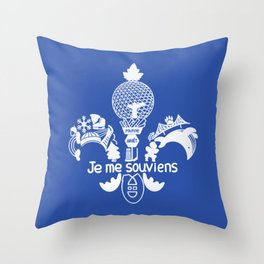 Je me souviens! Throw Pillow