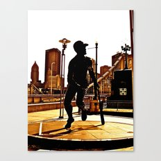 Roberto's Shadow Lives In Roberto's City Canvas Print