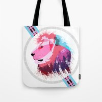 leon Tote Bags featuring Leon neon by Süyümbike Güvenç