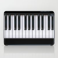 piano iPad Cases featuring Piano by rob art | illustration