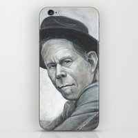 tom waits iPhone & iPod Skins featuring Tom Waits by Lars-Erik Robinson
