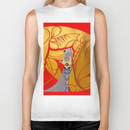 """Art Deco Design """"Samson & Delilah"""" Biker Tank"""