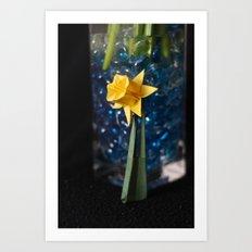 Lone Origami Daffadil Art Print