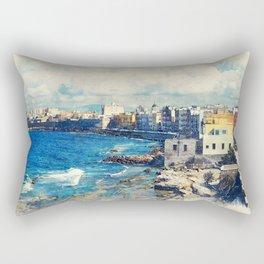 Trapani art 19 Sicily Rectangular Pillow
