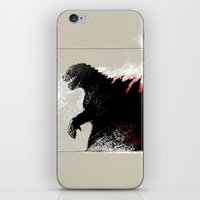 godzilla iPhone & iPod Skins featuring Godzilla by Sabine Israel