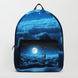 Tardis Cloud And Moon Backpack