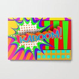 Kaboom Pop Art Explosion Metal Print
