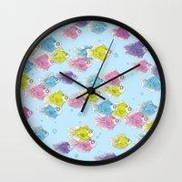 school Wall Clocks featuring School by Rebel June