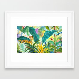Paradise Jungle Framed Art Print