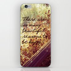 Beautiful Reasons To Be Happy iPhone & iPod Skin