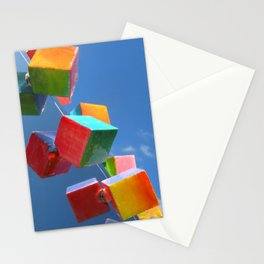 Color Cubes in the Sky Stationery Cards