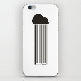 Barcode Rain iPhone Skin