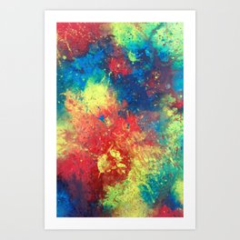 Abstract Paint Phone Case Art Print