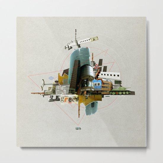 Collage City Mix 3 Metal Print