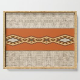 Southwestern Earth Tone Texture Design Serving Tray