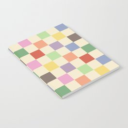 Colorful Checkered Pattern Notebook