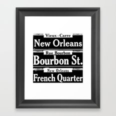 New Orleans French Quarters Framed Art Print
