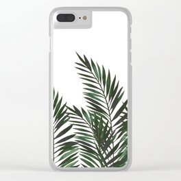 Palm Leaves Green Clear iPhone Case