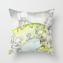 Land and Sea Throw Pillow