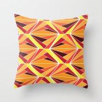 mosaic Throw Pillows featuring mosaic by kartalpaf