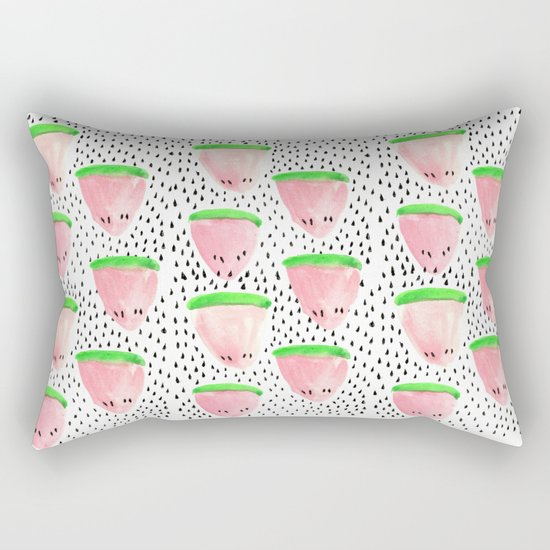 Watermelon Print II Rectangular Pillow