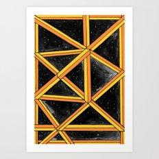 geo galaxy Art Print