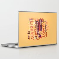 risa rodil Laptop & iPad Skins featuring Library by Risa Rodil