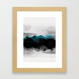 nature montains landscape Framed Art Print