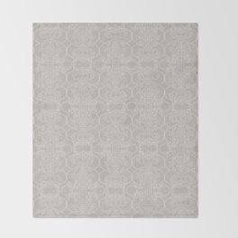 Snow Vertical Lace Throw Blanket