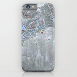 Heavenly Resort Trail Map iPhone Case