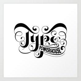 Type Powerhouse Inverted Art Print