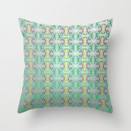 Softly colorful classic pattern ... Throw Pillow