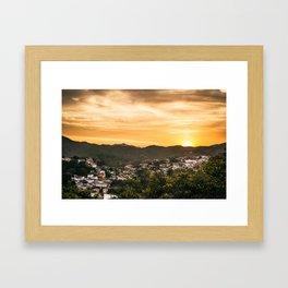 Fim de tarde em Ouro Preto Framed Art Print