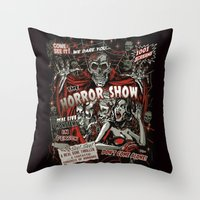 The Horror Show Throw Pillow