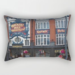 Crown Hotel In Liverpool - © Doc Braham; All Rights Reserved. Rectangular Pillow
