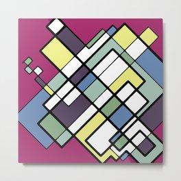 Square construct Floor Plan Metal Print