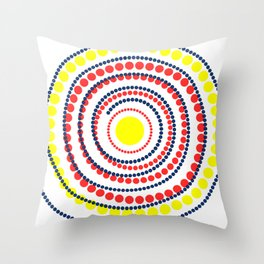 spiral in red and yellow Throw Pillow